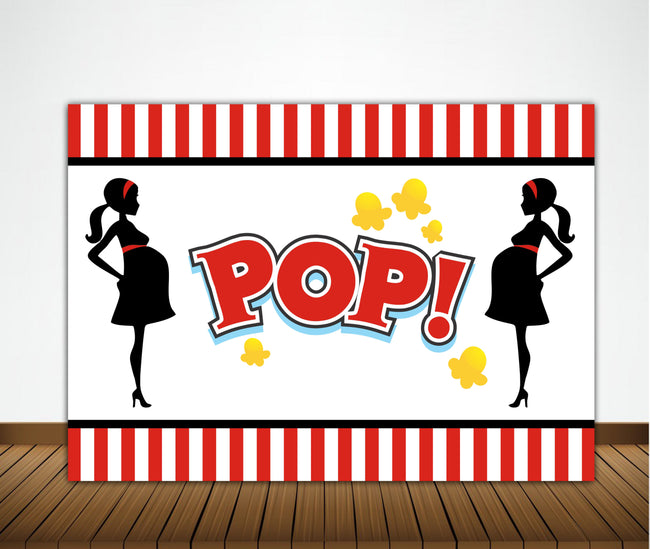 READY TO POP BABY SHOWER PARTY BACKDROP FOR PHOTOGRAPHY BANNER KIDS EVENT CAKE TABLE DECOR HOME DECORATION PHOTO BOOTH BACKGROUND