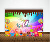 CANDYLAND BIRTHDAY PARTY BACKDROP FOR PHOTOGRAPHY BANNER KIDS EVENT CAKE TABLE DECOR HOME DECORATION PHOTO BOOTH BACKGROUND