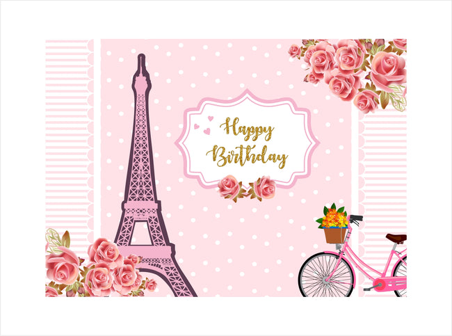 """Oh La La - It'S Paris"" Birthday Party Backdrop For Photography Banner Girl Kids Event Cake Table Decor Home Decoration Photo Booth Background"