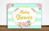 """OH BABY""- BABY SHOWER PARTY BACKDROP FOR PHOTOGRAPHY BANNER KIDS EVENT CAKE TABLE DECOR HOME DECORATION PHOTO BOOTH BACKGROUND"
