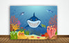 SHARK BIRTHDAY PARTY BACKDROP FOR PHOTOGRAPHY CAKE TABLE DECOR