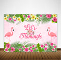 """LET'S FLAMINGO""-BIRTHDAY PARTY BACKDROP FOR PHOTOGRAPHY BANNER GIRL KIDS EVENT CAKE TABLE DECOR HOME DECORATION PHOTO BOOTH BACKGROUND"