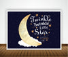 """Twinkle Twinkle Little Star"" Boy  BIRTHDAY PARTY BACKDROP FOR PHOTOGRAPHY BANNER KIDS EVENT CAKE TABLE DECOR HOME DECORATION PHOTO BOOTH BACKGROUND"