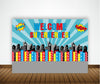 SUPER HERO - BIRTHDAY PARTY BACKDROP FOR PHOTOGRAPHY BANNER EVENT CAKE TABLE DECORATIONS