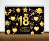 18th BIRTHDAY PARTY BACKDROP FOR PHOTOGRAPHY BANNER EVENT CAKE TABLE DECOR HOME DECORATION PHOTO BOOTH BACKGROUND