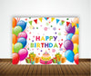 JOYFUL BIRTHDAY PARTY BACKDROP FOR PHOTOGRAPHY BANNER KIDS EVENT CAKE TABLE DECOR HOME DECORATION PHOTO BOOTH BACKGROUND