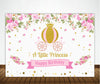 """CROWN PRINCESS ""-GIRLS BIRTHDAY PARTY BACKDROP FOR PHOTOGRAPHY BANNER GIRL KIDS EVENT CAKE TABLE DECOR HOME DECORATION PHOTO BOOTH BACKGROUND"
