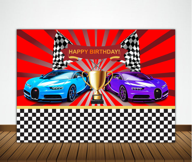READY SET GO CAR RACING  THEME -RACING CAR BACKDROP PHOTOGRAPHY BANNER GIRL KIDS EVENT CAKE TABLE DECOR HOME DECORATION PHOTO BOOTH BACKGROUND