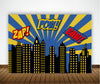 SUPER HERO - BIRTHDAY PARTY BACKDROP FOR PHOTOGRAPHY BANNER EVENT CAKE TABLE DECOR