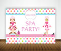 SPA PARTY BIRTHDAY PARTY BACKDROP FOR PHOTOGRAPHY BANNER GIRL KIDS EVENT CAKE TABLE DECOR HOME DECORATION PHOTO BOOTH BACKGROUND