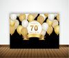 70th BIRTHDAY PARTY BACKDROP FOR PHOTOGRAPHY BANNER EVENT CAKE TABLE DECOR HOME DECORATION PHOTO BOOTH BACKGROUND