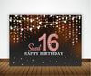 16Th Birthday Party Backdrop For Photography Banner Event Cake Table Decor Home Decoration Photo Booth Background