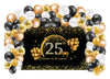 Combo Kit -25Th Birthday/Anniversary With Backdrop And Balloons