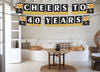 40Th Milestone Banner For Cheers To 40Th Birthday Decoration I Cheers To 40Th Birthday