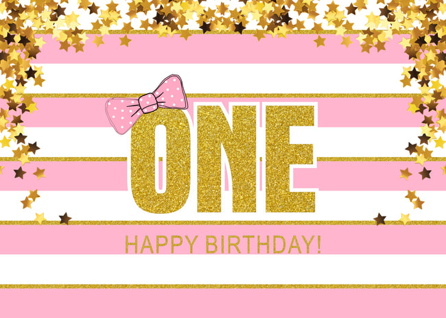 """ONE IS FUN""-GIRL BIRTHDAY PARTYBANNER GIRL  KIDS EVENT CAKE TABLE DECOR HOME DECORATION PHOTO BOOTH BACKGROUND"