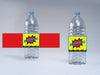 Super Hero Birthday Party Water Bottle Sticker Labels ( Set of 10 )