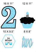 Two Cool -  Cutout Pack for Birthday decoration - Pack of 5
