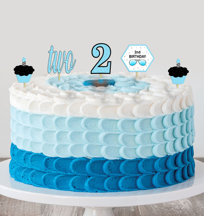 Two Cool Birthday - Theme Cake Topper for Birthday Party