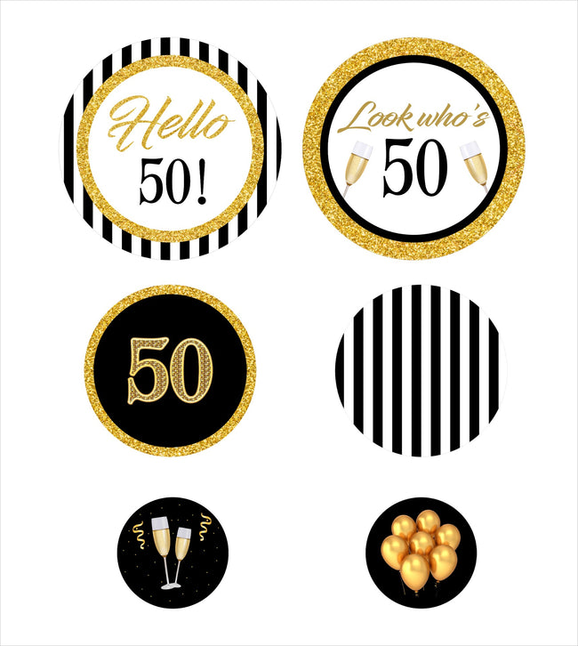 50th  BIRTHDAY PARTY DECORATIONS - LARGE CONFETTI  - Set of 27