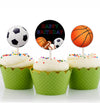 ONLY SPORTS CUP CAKE TOPPER GIRL BIRTHDAY DECORATION - Pack of 12