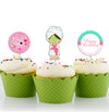 SPA PARTY CUP CAKE TOPPER BIRTHDAY DECORATION (Pack of 12)