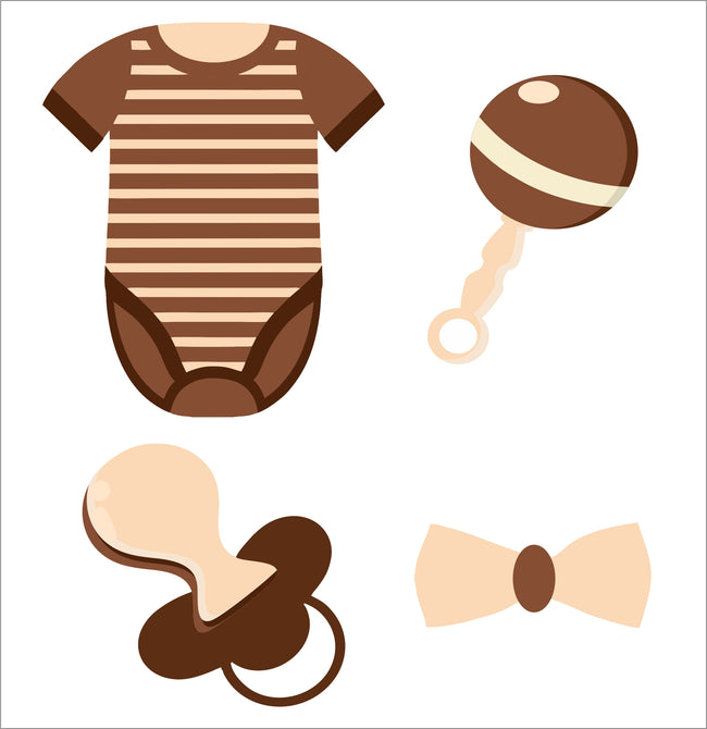 Oh Baby Theme Cup Cake Topper Baby Shower/Baby Welcome  - Pack of 12