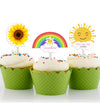 You Are My Sunshine -CUP CAKE TOPPER GIRL BIRTHDAY DECORATION/BABY WELCOME- Pack of 12