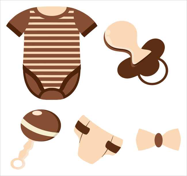 """OH Baby"" Theme Cut Out Pack  Baby shower decoration - Pack of 5"