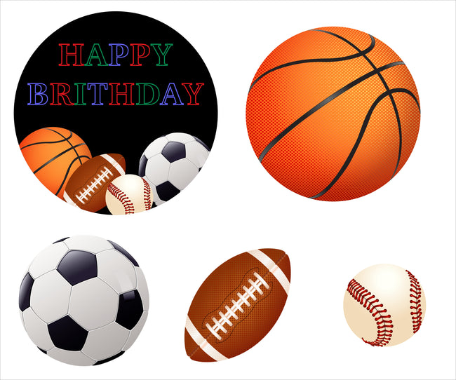 Only Sports Out Pack for birthday decoration - Pack of 5
