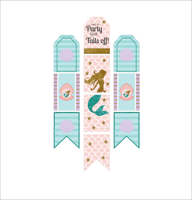 """LITTLE MERMAID""-GIRLS HANGING VERTICAL BANNER WALL DECORATION KIT"