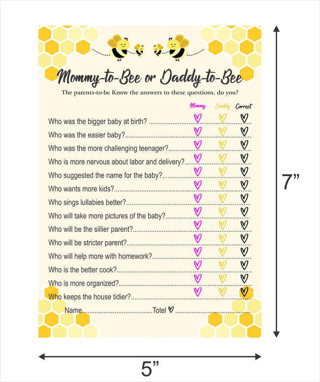 """What it will bee "" THEME Baby Shower Games - Pack of 10"