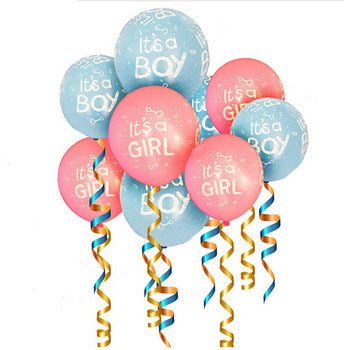 """Boy or Girl We Love You"" Banner, Its Girl and  Its Boy  Pink Blue Balloons  Baby shower decoration"