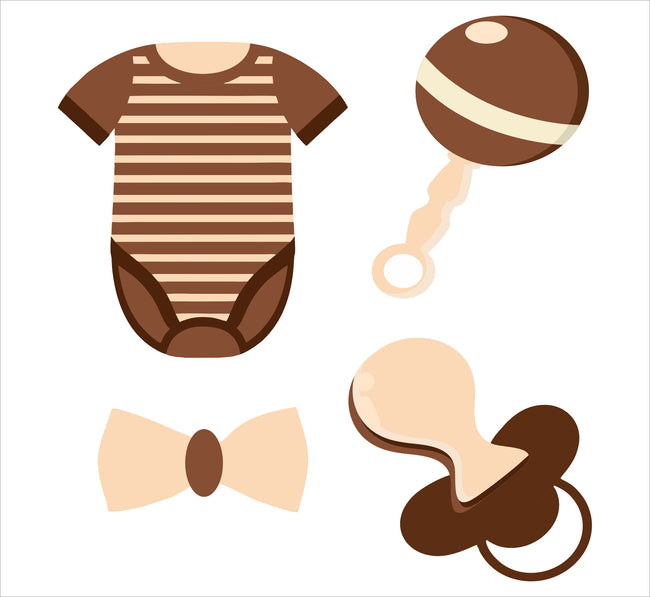 """Oh Baby"" Theme Baby Shower Hanging Set For Decoration - Set Of 12"