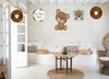 """Cute Teddy Welcome Baby Boy""  Theme Hanging Set for decoration - Set of 12"