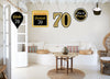 70th Milestone Theme Hanging Set for decoration - Set of 10
