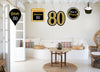 80th Milestone Theme Hanging Set for decoration - Set of 10