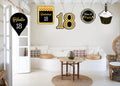 18th Milestone Theme Hanging Set for decoration - Set of 10