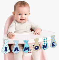 """""""I Am One """" First Birthday Banner , Bunting & Garland Photo Booth Props Decoration"""