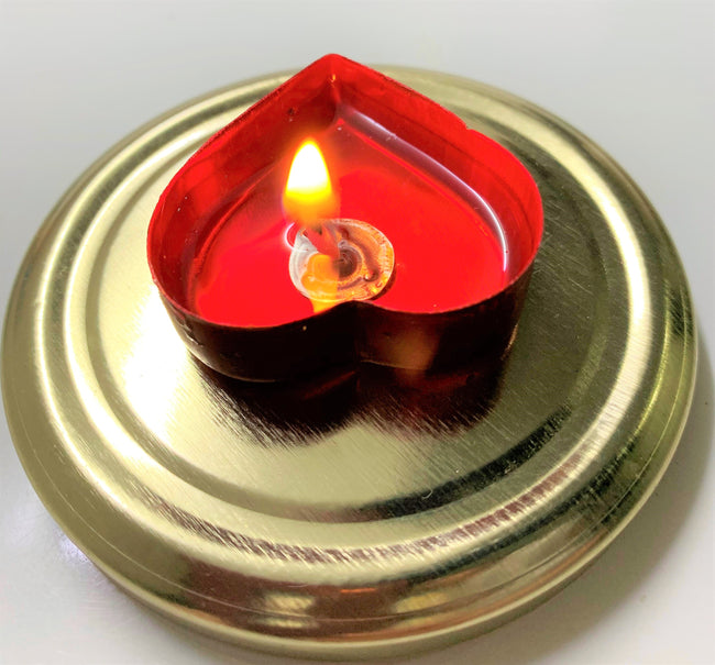 Multi Gel Wax Tealight  Heart Candles Floating Candle for Diwali Decoration Items and Christmas Festivals Candles(Pack of 10)