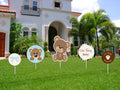 """ Baby Boy Cute Teddy"" -  Cutout  Pack for welcome baby  boy decoration - Pack of 5"