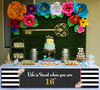 16Th Milestone Banner For Wall Decoration, Cake Area, Entrance - Perfect For Birthday Party
