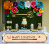 """Baby Loading""- Oh Baby theme Banner for Wall Decoration, Cake Area, Entrance - Perfect for baby shower"