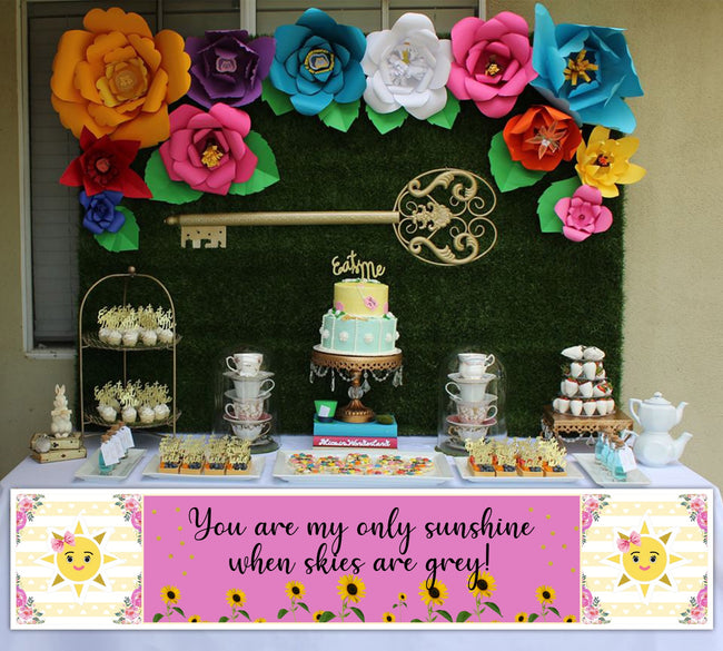Sunshine Theme Banner Birthday /baby welcome Wall Decoration, Cake Area, Entrance