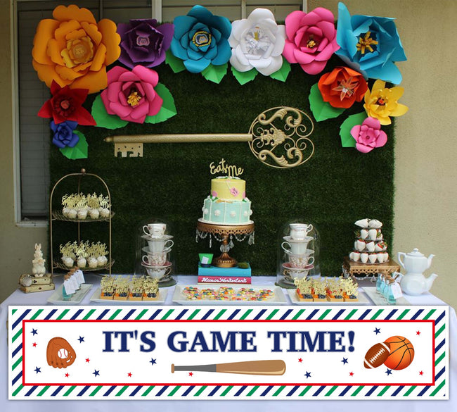 Only Sports Birthday Decoration Banner For Wall Decoration, Cake Area, Entrance - Perfect For Birthday Parties