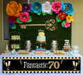 70th Milestone Banner for Wall Decoration, Cake Area, Entrance - Perfect for Birthday Party