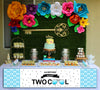 """Two Cool"" Boys- Long Banner for Wall Decoration, Cake Area, Entrance"
