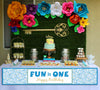 """ONE IS FUN"" Boys- Long Banner for Wall Decoration, Cake Area, Entrance"