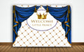Baby Welcome Banner Boy'S Cake Table Decor Home Decoration Photo Booth Background