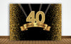 Birthday Party Backdrop For Photography Banner 40Th Birthday Event Cake Table Decor Home Decoration Photo Booth Background
