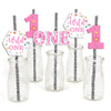 """WILD ONE""-  GIRLS FIRST BIRTHDAY STRAW SET DECORATION (SET OF 25)"